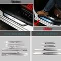 4 UNIDS Car Styling DIY Nueva de Acero Inoxidable Interior y Exterior puerta Caso de la Cubierta de Pegatinas para Bmw 2 Series 218i Partes Accesorios