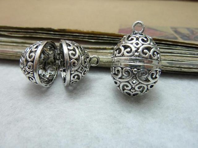 OneckOha 2pcsLot 1624mm Antique Silver Can Open Hollow Ball Wish