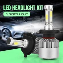 CROSSLEOPARD S2 светодиодный 10000LM/комплект фар автомобиля H1 H3 H4 H7 H11 H13 H27 9004 HB3 9006 HB4 9007 HB5 лампа с 3 по бокам ламп