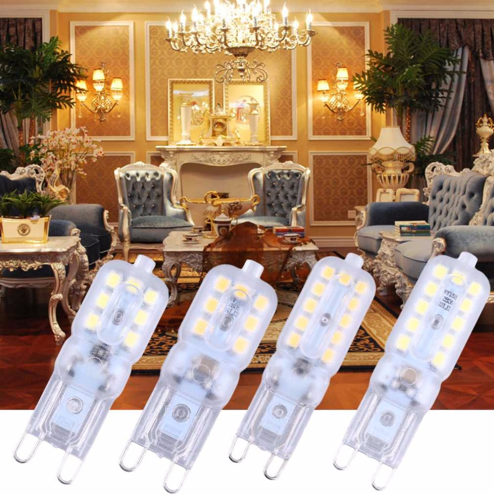 2017 G9 Led Lamp Light 3W/5W G9 Led Bulb 220V SMD2835 LED G9 Spotlight For Crystal Chandelier Replace Halogen Lamp
