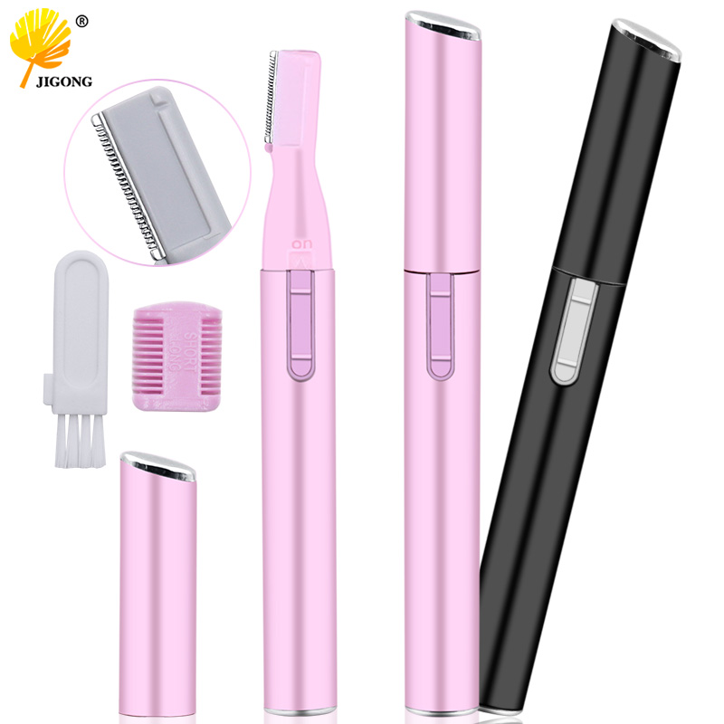 Electric Face Eyebrow Scissors Hair Trimmer Mini Portable Women Body Shaver Remover Blade Razor Epilator