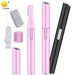Electric Face Eyebrow Scissors Hair Trimmer Mini Portable Women Body Shaver Remover Blade Razor Epilator(China)