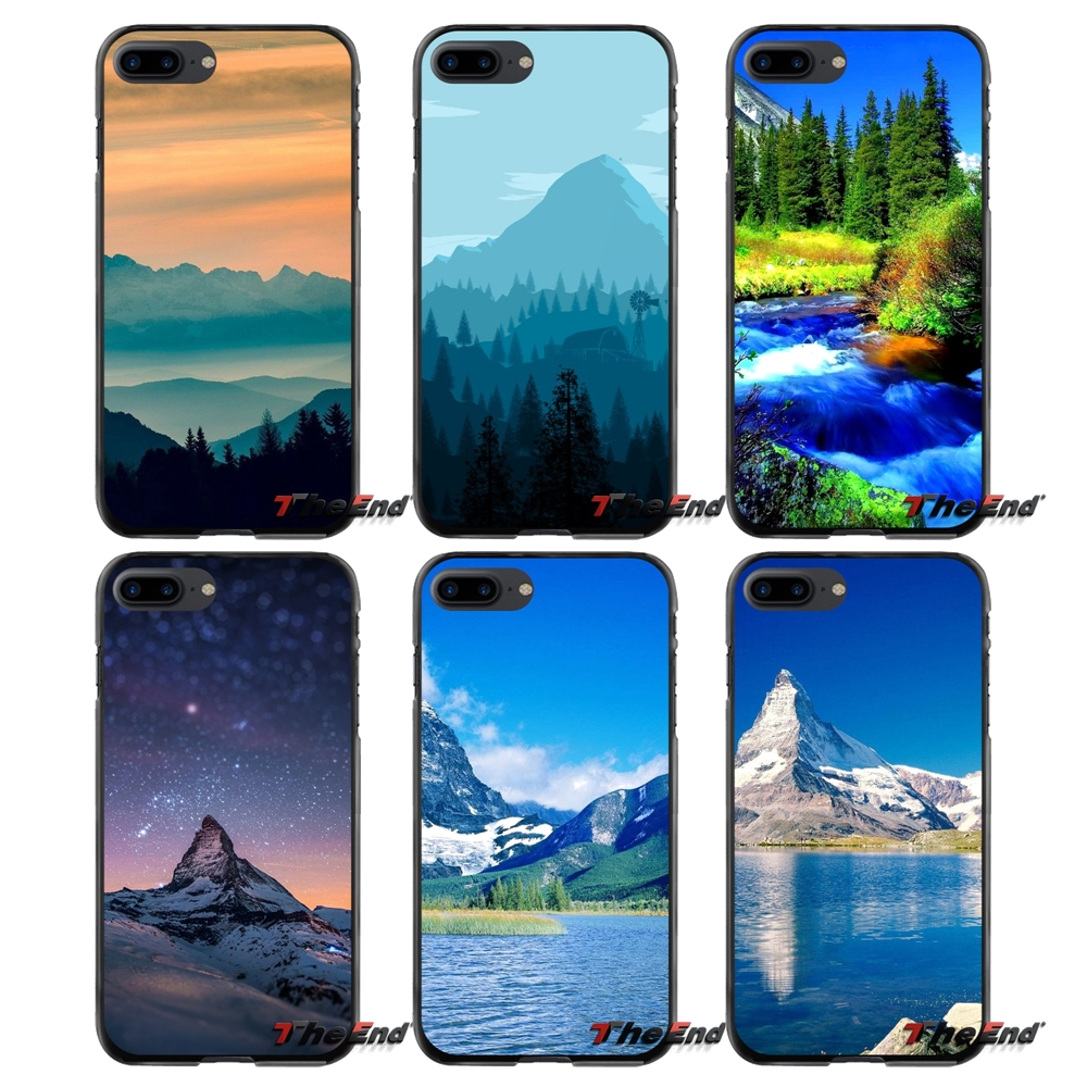 For Apple iPhone 4 4S 5 5S 5C SE 6 6S 7 8 Plus X iPod Touch 4 5 6 Accessories Phone Shell Covers Blue Mountain