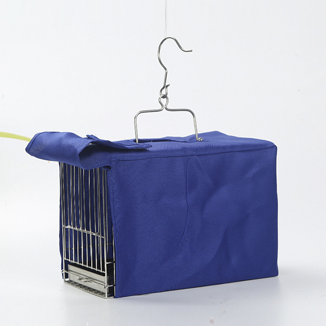 Square stainless steel bird cage with caged parrot bathing cage bird out of the carrying case ZP7011150 4