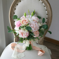 wedding table centrepiece flowers bridal floral bouquet pink peony bouquet