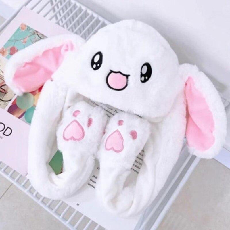 Движущаяся шапка с заячьими ушами бархатные игрушки шапка кролика движется Ушная шапка игрушка 21 цвет Автоспуск реквизит подарки для детей интересный головной убор