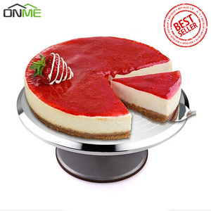 Onme Baking Tools 12 inch Aluminum Alloy Flower Cream Cake Decorating Table Easier Cleaning Non-slip Turntable