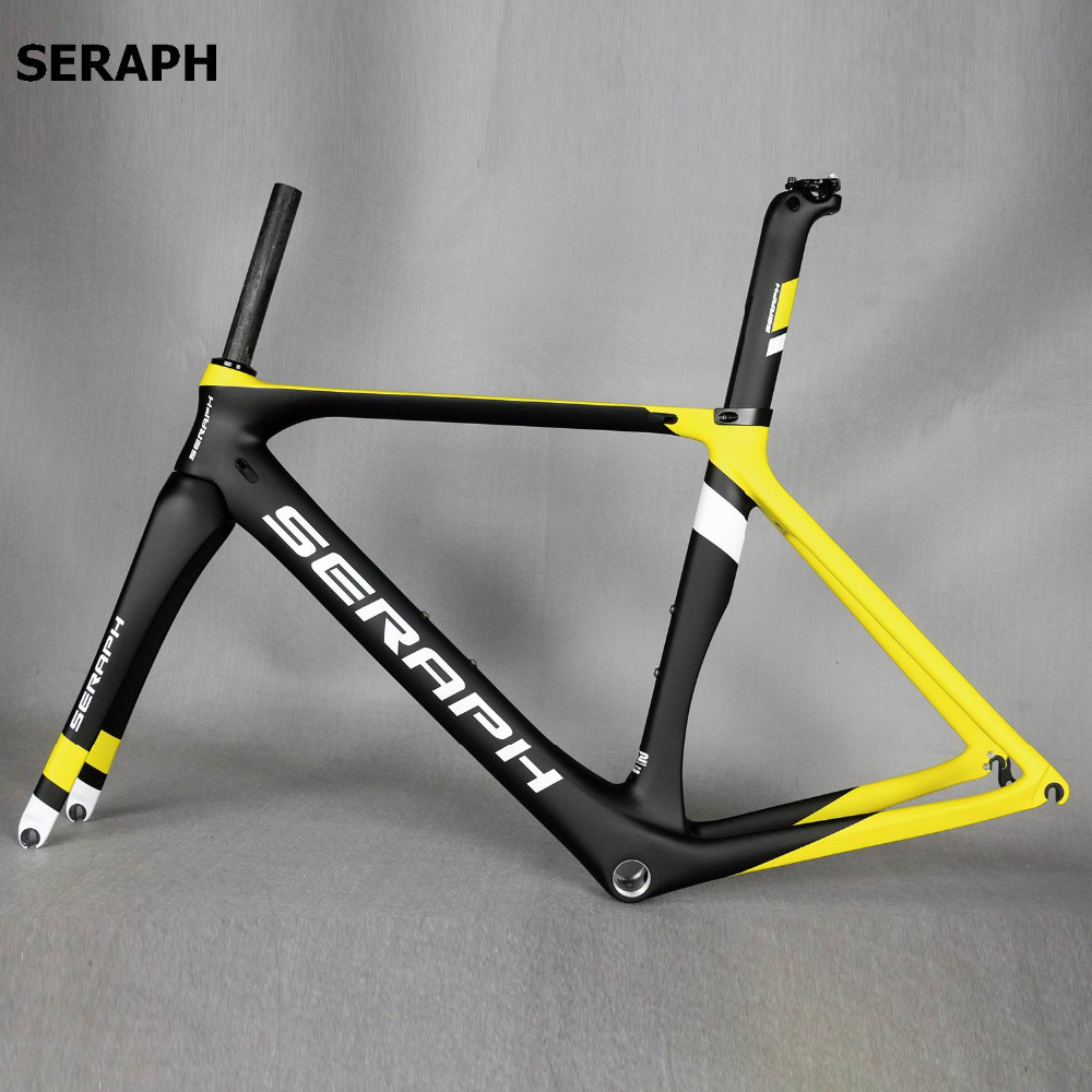 OEM Factory Direct Sales Bike Frame, Chinese Aero Carbon Frame Road Bike , SERAPH brand complete bicycle frame . accept paint track frame fixed gear frame bsa carbon 1 1 2to 1 1 8 bike frameset with fork seatpost road carbon frames fixed gear frameset