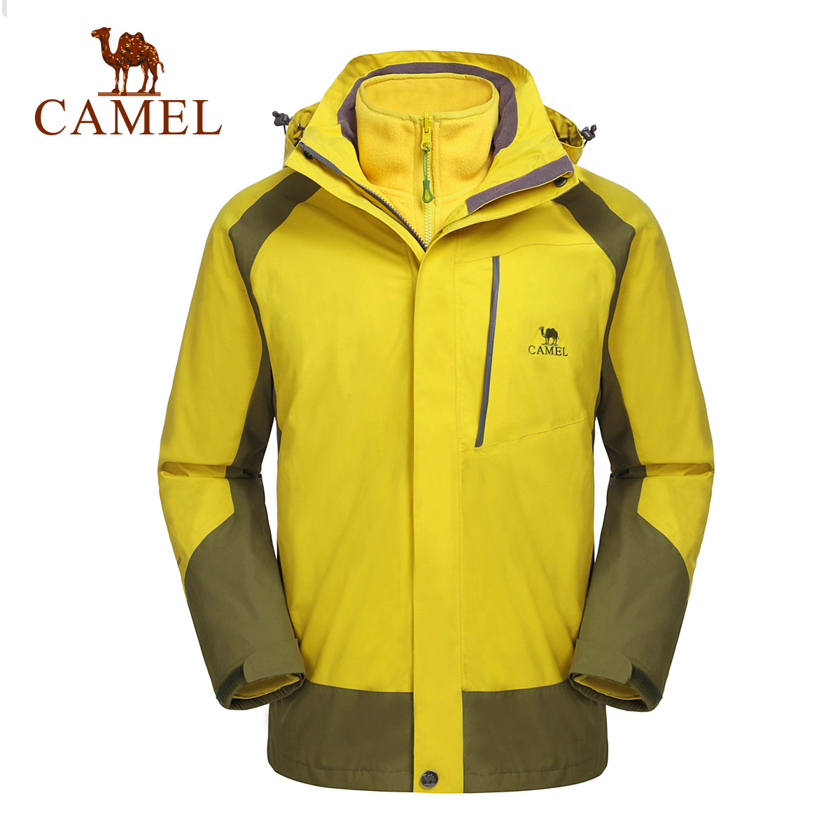 Camel for outdoor Men 2014 hooded outdoor font b jacket b font windproof thermal a4w279077 outdoor