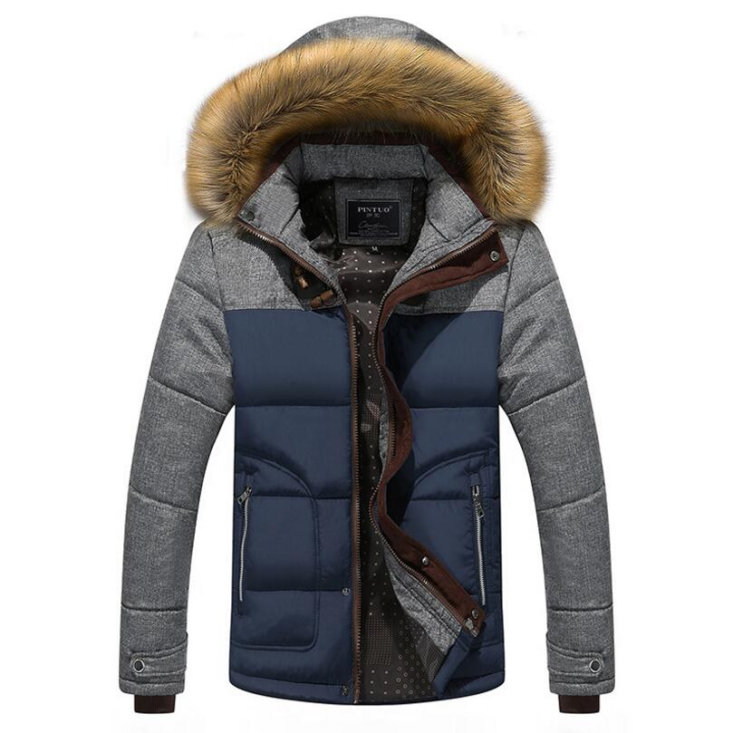 Winter Down Jacket Men European Style Casual Slim Warm Coat Cotton-Padded Outwear Hooded Mens Winter Jackets Parkas Coat 5XL winter jacket men thick warm hooded winter coat cotton padded jackets fashion young mens slim fit outwear parka hombre