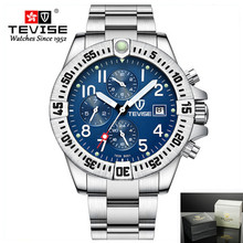 Relojes para hombre, relojes mecánicos automáticos de esfera funcional, reloj de pulsera dorado de lujo para hombre, reloj de oro