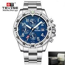Tevise גברים של שעונים פונקציונלי חיוג אוטומטי מכאני שעונים יוקרה זהב שעוני יד עבור זכר זהב שעון Relogio Masculino