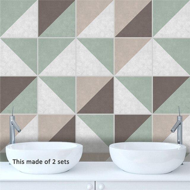 Removable Diy Ceramic Tile Floor Stickers Muraux The Bathroom Art