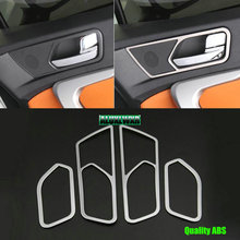 цена на 4Pcs ABS Chrome Inner Door Handle Cover Inner Door Protection Trim Sticker For JAC S3 2013 2014 2015 2016 2017 car Accessories