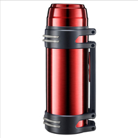 2000ml Stainless Steel Thermos Travel Water Pot Coffee Kettle Vacuum Flask Insulated Kettle Outdoor Large Capacity Travel Pot