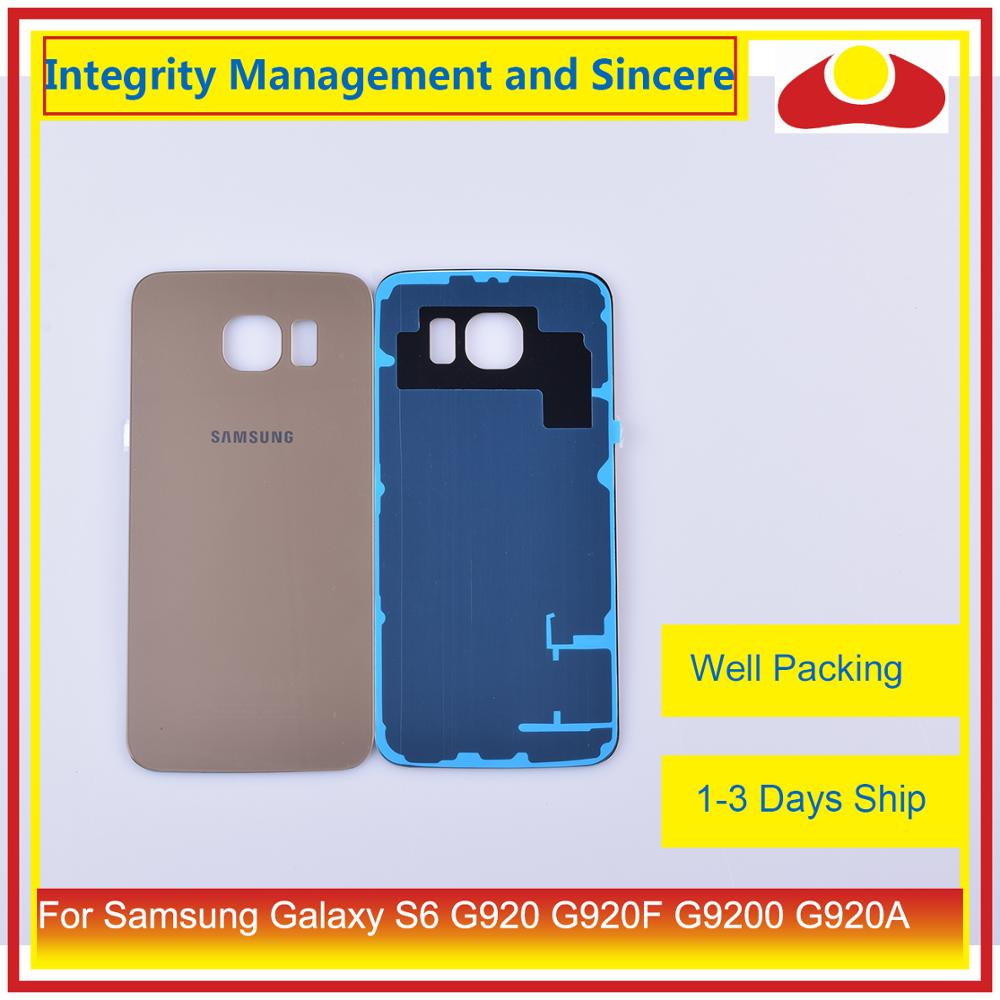 10Pcs lot For Samsung Galaxy S6 G920 G920F G9200 G920A Housing Battery Door Rear Back Glass Cover Case Chassis Shell Replacement in Mobile Phone Housings Frames from Cellphones Telecommunications