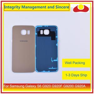 Image 5 - 50Pcs/lot For Samsung Galaxy S6 G920 G920F G9200 G920A Housing Battery Door Rear Back Glass Cover Case Chassis Shell Replacement