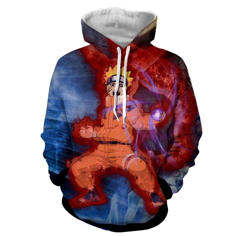 2018 new fashion Cool sweatshirt Hoodies Men women 3D print HOKAGE Uzumaki Naruto Loose hot Style Streetwear sleeve clothing