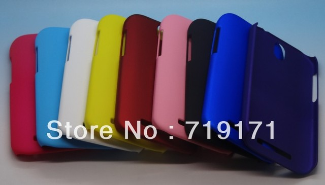 1pcs/lot free ship Rubber Hard Cover Case For HTC ONE SV T528t ( One ST ) +1pcs flim