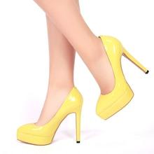 Large size women wedding shoes fashion ladies pointed toe casade pumps girls sweet neon stiletto super high heels footwear 93-1