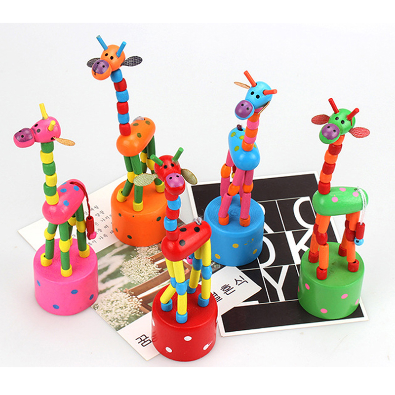 Montessori Toys Educational Wooden Toys for Children Early Learning Exercise Baby Fingers Flexible Giraffe 1 PCS
