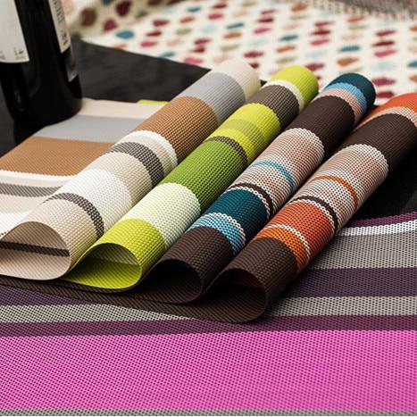 4 pcs / lot Placemats Krismas PVC Placemat Bar Mat 30 * 45cm Plate Mat, Jadual Mat Set, Dapur Panas Pad Pemisahan mat
