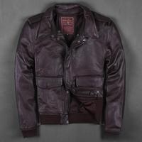 FACTORY 2016 Men S Leather COAT REAL COW Leather Jacket Mens Leather Jacket Suit American Pilots