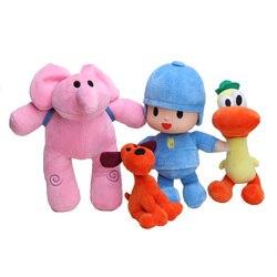 Anime 4 unids/lote niños Brinquedos regalo Pocoyo Elly & Pato & POCOYO & Loula juguetes de peluche buen regalo para los niños