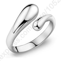 JEXXI Fashion Woman Jewelry Genuine 925 Sterling Silver Smooth Figure Rings Adjustable Factory Price Big Promotion
