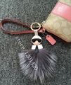 purse charm karl monster fox fur pompom ball bag bugs charm keychain car bag pendant accessory Luxury Genuine fluffy tote charm
