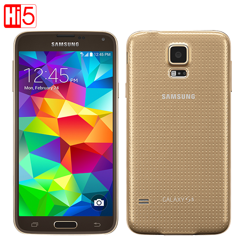 original samsung galaxy s5 g900f android cell phone16g rom 16mp camera 5 1 touch screen quad. Black Bedroom Furniture Sets. Home Design Ideas