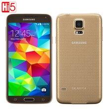 Оригинальный Samsung Galaxy S5 G900F Android Ячейки Phone16G ROM 16MP Камера 5.1 «Сенсорный экран Quad Core Wi-Fi GPS бесплатная доставка