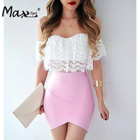 2017 Women Solid Irregular Mini Bandage Skirts Summer Sexy Pencil Bodycon Skirts Wholesale
