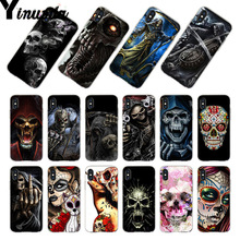 Yinuoda For iphone 7 6 X Case Grim Reaper Skull Skeleton Coque Phone case for iPhone 8 6S Plus 5S SE XR XS MAX