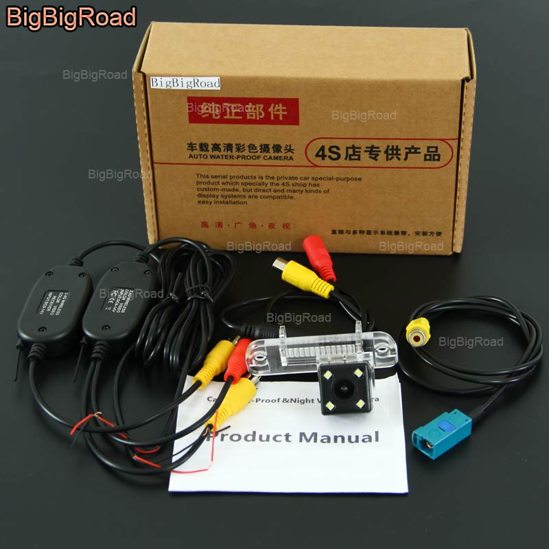 BigBigRoad For Mercedes Benz M ML W164 ML450 ML350 ML300 ML250 Wireless Camera Night Vision Car