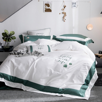 4Pcs Long Staple Cotton Exquisite Embroidery Dandelion Bedding Sets Dance Lightly With Life Duvet Cover+Bed Sheet+Pillowcases