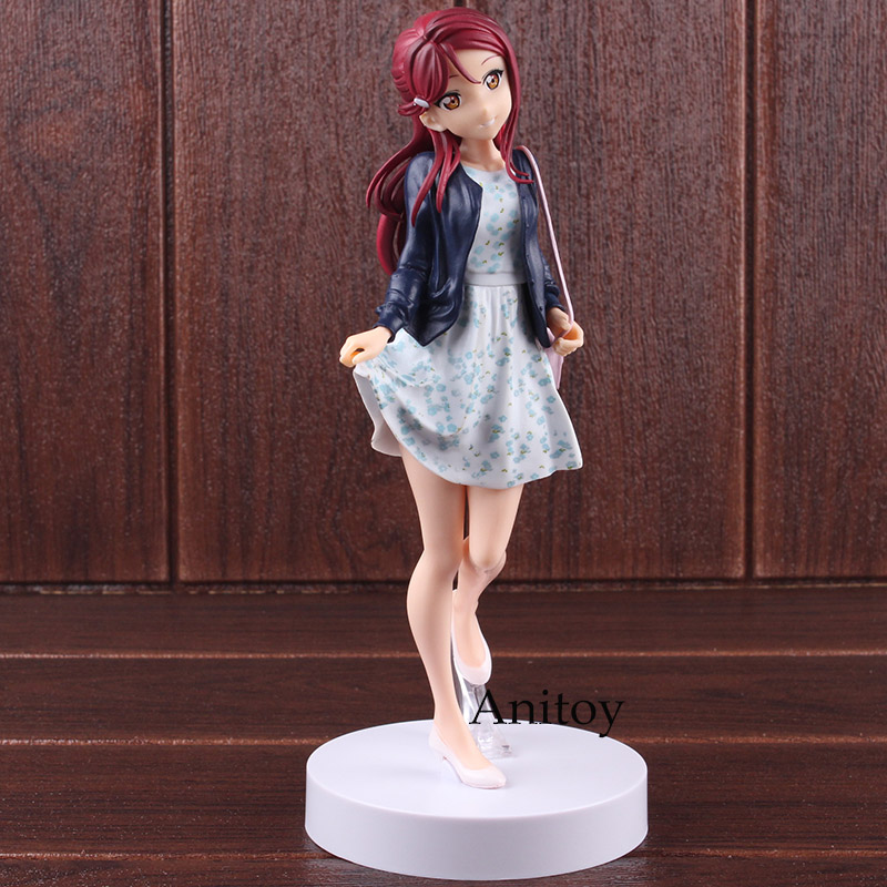 EXQ Figure School Idol Project Lovelive Figure Sunshine Riko Sakurauchi PVC Love Live Anime Action Figures Collectible Model Toy velvet платье до колена
