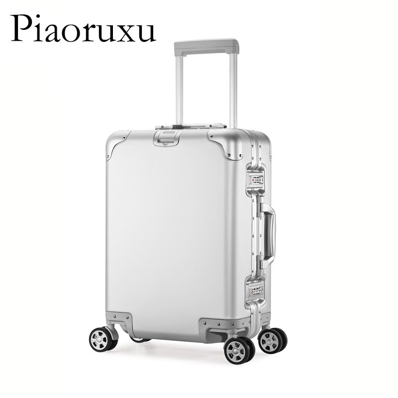 100% All Aluminum Luggage Hardside Rolling Trolley Luggage travel Suitcase 20 Carry on Luggage 24 26 Checked Luggage hardside rolling luggage suitcase 20 carry on 242628 checked luggage aluminum frame pc shell luggage travel trolley suitcase
