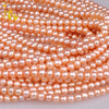 [NYMPH]Natural Fresh Water Pearl Beads For Jewelry Loose Gemstones Pearl Beads 7-8MM Egg Shape Near Round[B102]