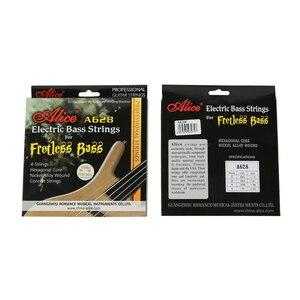 Image 4 - אליס A628 Fretless 4 חשמלי בס מיתרי סט מלא 4 מיתרים משושה ליבת סגסוגת ניקל זהב כדור סוף