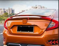 ABS заднего крыла багажник спойлер для Honda Civic 2016 2017 2018 с светодиодный