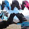 1Pair Outdoor Skiing Riding Windproof Waterproof Gloves Dual Touch Screen Thermal Warm Fleece Finger Glove Brace Supports Winter