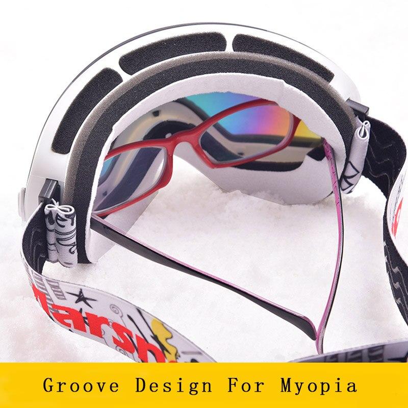 Marsnow lunettes de Ski Double UV400 Anti-buée lentille de Ski masque lunettes Ski hommes femmes enfants enfants garçon fille neige Snowboard lunettes - 3