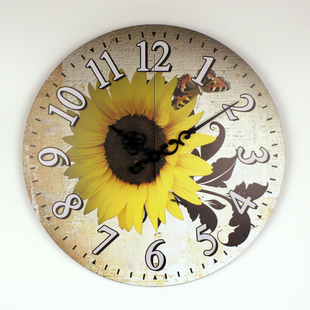 Hermoso Girasol Reloj Decorativo Reloj de Pared de Decoración Del Hogar  Decoración de La Pared de Garantía 3 Años de Silencio Reloj de Pared Regalo  reloj pared vintage relojes de pared|decoration watches|wall