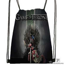 Custom gray_the_game_of_thrones-Drawstring Backpack Bag Cute Daypack Kids Satchel (Black Back) 31x40cm#180611-03-132