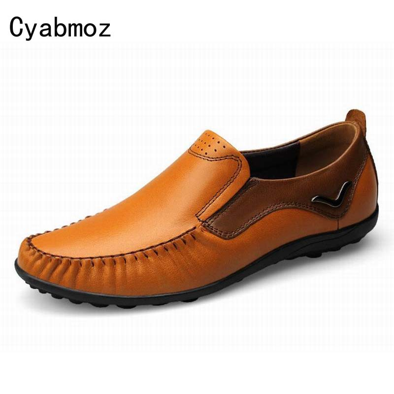 100% Genuine Leather Flats Fashion Men Casual Shoes High Quality Moccasins Loafers Comfortable Breathable Driving Shoes Zapatos 2017 new brand breathable men s casual car driving shoes men loafers high quality genuine leather shoes soft moccasins flats