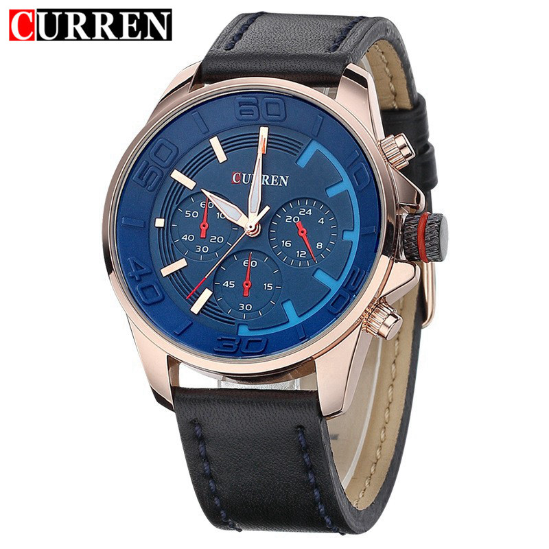 Curren Fashion Casual Army Sport Brand Luxury Mens Watches Leather Business Quartz-Watch Men Wristwatch Relogio masculino 8187 jedir reloj hombre army quartz watch men brand luxury black leather mens watches fashion casual sport male clock men wristwatch