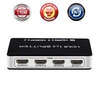 UHD 3D 1 Input 4 Ouput HDMI 2 0 Splitter 1X4 Amplifier 4K 4 Port HDMI