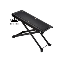Folding Portable Classical Guitar Pedal Folk Guitar Footstool Pedals Metal 4 Adjustable Type Non Slip Guitar