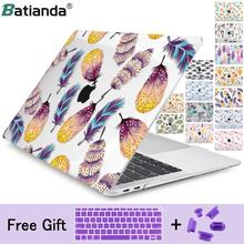 For New MacBook Air Pro Retina 11 12 13 15 for Macbook Pro 13 15 Air 13 2019 A1932 A1708 A1989 Floral Feather Print Laptop Case for new macbook air pro retina 11 12 13 15 for macbook pro 13 15 air 13 2019 a1932 a1708 a1989 floral feather print laptop case